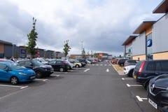 Puerto Glasgow Retail Park en Inverclyde Escocia fotografía de archivo
