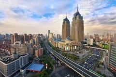 Puerto global, Shangai Fotos de archivo libres de regalías
