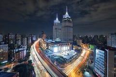 Puerto global, Shangai Foto de archivo libre de regalías