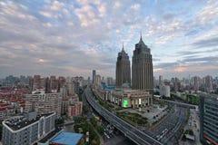 Puerto global, Shangai Fotos de archivo