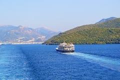 Puerto Grecia de Igoumenitsa del barco de pasajero Imagen de archivo libre de regalías