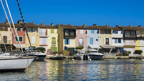 Puerto Grimaud en Francia Imágenes de archivo libres de regalías