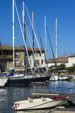 Puerto Grimaud en Francia Foto de archivo libre de regalías