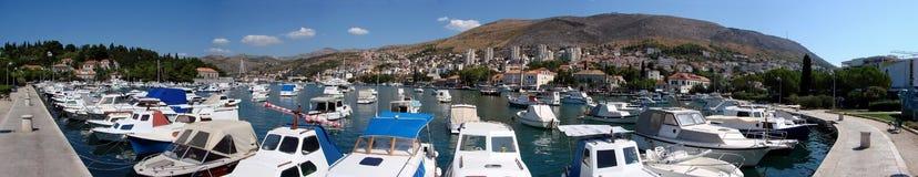 Puerto Gruz de Dubrovnik Fotografía de archivo libre de regalías
