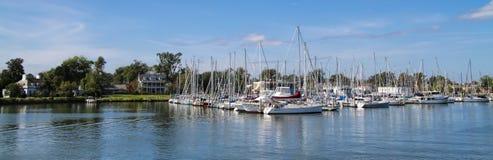 Puerto Hampton Virginia del bote pequeño Foto de archivo