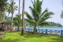 Puerto hermoso Blair India de la costa del paisaje Foto de archivo libre de regalías