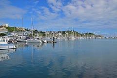 Puerto hermoso Mosela, Noumea, capital de Nueva Caledonia foto de archivo