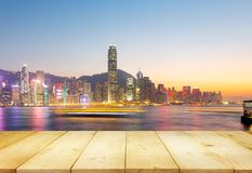 Puerto Hong-Kong de Victoria Foto de archivo