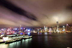 Puerto Hong-Kong de Victoria imágenes de archivo libres de regalías
