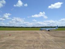 PUERTO IGUAZU, ARGENTINA, 29 NOVEMBER 2016: view to the airplane Stock Images
