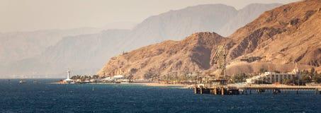 Puerto industrial de Eilat, Israel Foto de archivo