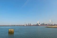 Puerto industrial del mar Foto de archivo