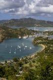 Puerto inglés en Antigua fotos de archivo