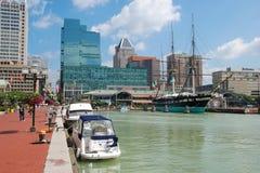 Puerto interno de Baltimore Fotografía de archivo libre de regalías