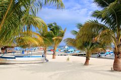 Puerto Juarez Cancun Quintana Roo tropical boats Royalty Free Stock Photos