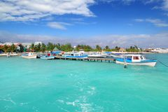 Puerto Juarez Cancun Quintana Roo tropische Boote lizenzfreies stockbild