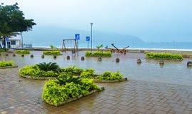 Poerto Lopez, Ecuador, new seafront of city stock photography