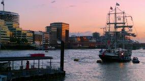 Puerto, Londres Fotografía de archivo libre de regalías