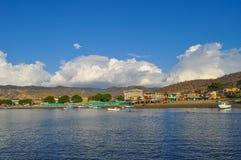 Puerto Lopez kust arkivfoton