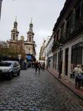 Puerto Madero bij Schemer royalty-vrije stock afbeelding