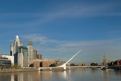 Puerto Madero in Buenos Aires. Puerto Madero, touristic destination in Buenos Aires, Argentina stock image