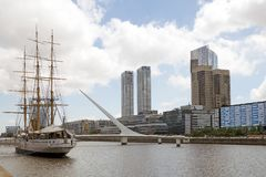 Puerto Madero in Buenos Aires, Argentina royalty free stock image