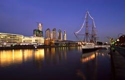 Puerto Madero, Buenos Aires, Argentyna fotografia stock