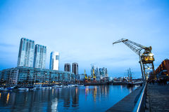 Puerto Madero in Buenos Aires Stock Images