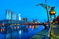 Puerto Madero in Buenos Aires nachts Stockbild