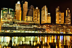 Puerto Madero in Buenos Aires at night Royalty Free Stock Photography