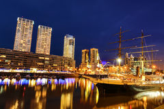 Puerto Madero in Buenos Aires at night Stock Photography