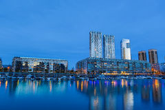 Puerto Madero in Buenos Aires at night Royalty Free Stock Image