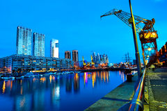 Puerto Madero in Buenos Aires at night Stock Image