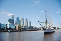 Puerto Madero. Cityscape in Buenos Aires, Argentina Royalty Free Stock Photography