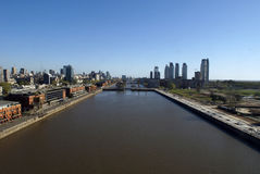 Puerto Madero de l'air Photos libres de droits