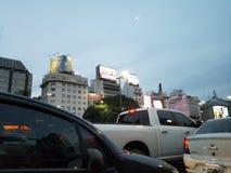 Puerto Madero an der Dämmerung Lizenzfreies Stockfoto