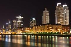 Puerto Madero en la noche imagen de archivo libre de regalías