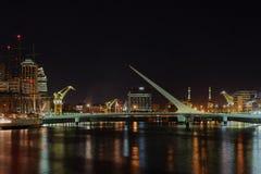 Puerto Madero en la noche Foto de archivo libre de regalías