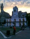 Puerto Madero en la oscuridad fotos de archivo libres de regalías