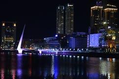 Puerto Madero na nocy zdjęcie stock
