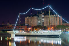 Buenos Aires, Puerto Madero nachts Lizenzfreie Stockfotos