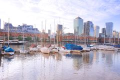 Puerto Madero neighborhood in Buenos Aires. Royalty Free Stock Images