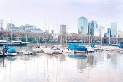 Puerto Madero neighborhood in Buenos Aires. Royalty Free Stock Image