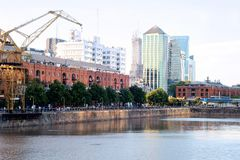 Puerto Madero neighborhood in Buenos Aires. Royalty Free Stock Photo