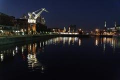 Puerto Madero at Night Royalty Free Stock Photos