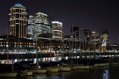 Puerto Madero at night Royalty Free Stock Photos