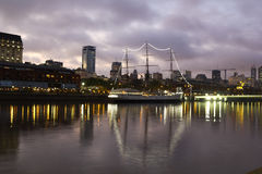 Puerto Madero by night, Buenos Aires Stock Photo