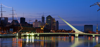 Puerto Madero at night, Buenos Aires, Argentina. Stock Photo