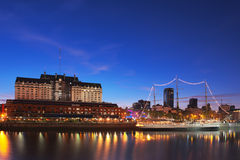 Puerto Madero at Night, Buenos Aires, Argentina. Royalty Free Stock Photography