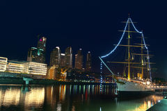 Puerto Madero at Night, Buenos Aires, Argentina. Royalty Free Stock Image